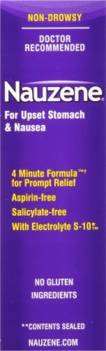 Nauzene 4 Minute Formula Wild Cherry Chewable Tablets Perspective: right