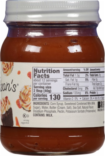 Mrs. Richardson's Sea Salt Caramel Dessert Sauce Perspective: right
