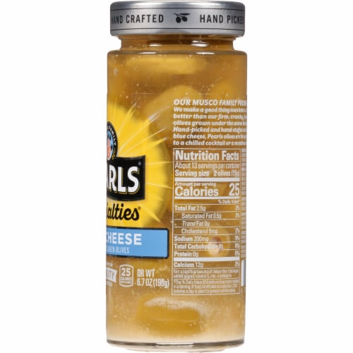 Pearls Specialties Blue Cheese Stuffed Queen Olives Perspective: right