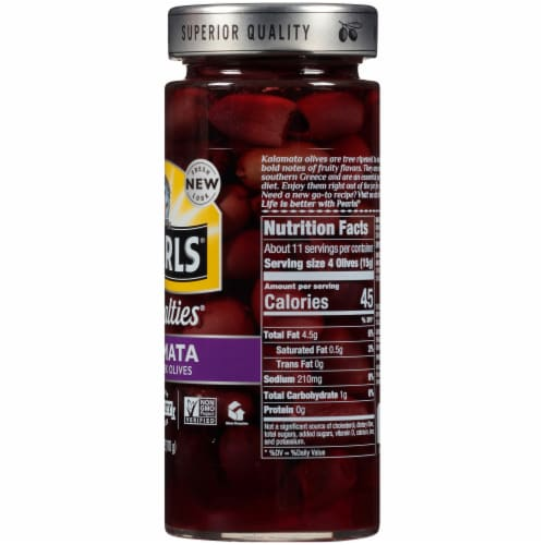 Pearls Specialties Pitted Kalamata Greek Olives Perspective: right