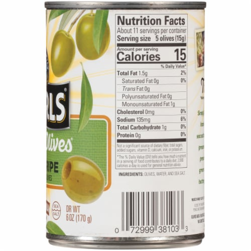 Pearls® Simply Olives Green Ripe Medium Pitted California Olives Perspective: right