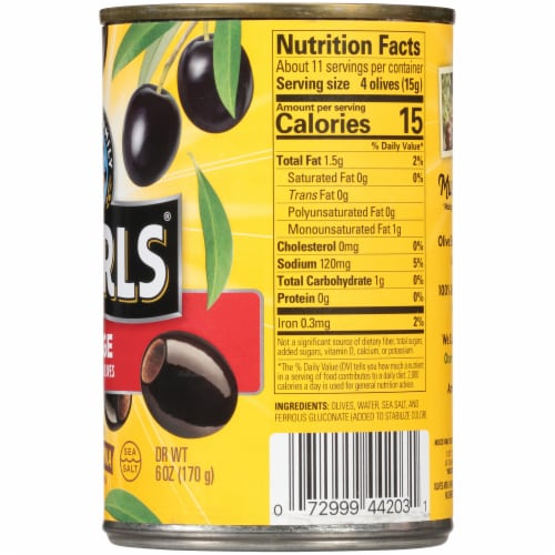 Pearls Large Pitted California Ripe Olives Perspective: right