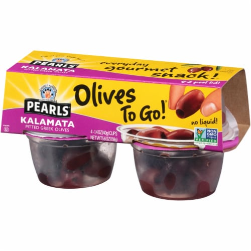 Pearls Pitted Kalamata Olives To Go Cups Perspective: right