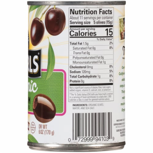 Pearls Organic Medium Pitted Ripe Olives Perspective: right
