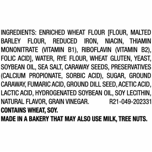 Beefsteak Seeded Hearty Rye Bread Perspective: right