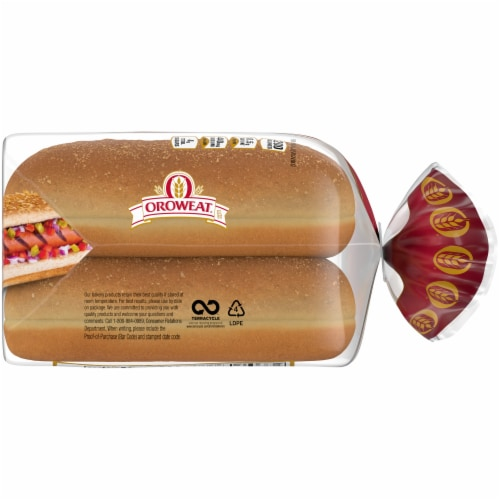 Oroweat Whole Grain Wheat Hot Dog Buns 6 Count Perspective: right