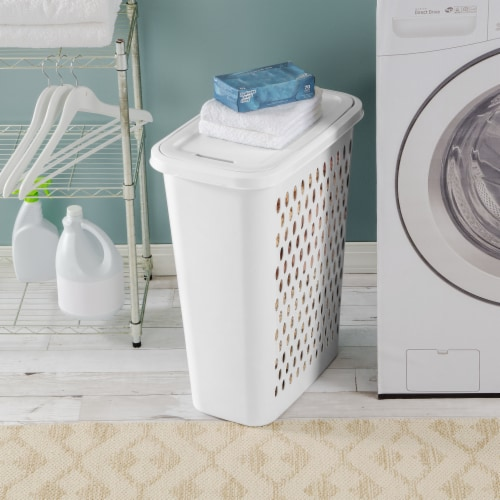 Sterilite Slim Laundry Hamper - White Perspective: right