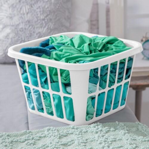 Sterilite Square Laundry Basket - White Perspective: right