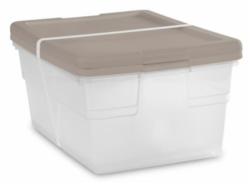 Sterilite 16 Quart Storage Boxes - Hazelwood/Clear Perspective: right