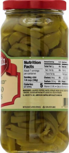 Mezzetta Deli-Sliced Tamed Jalapeno Peppers Perspective: right
