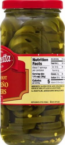 Mezzetta Deli-Sliced Hot Jalapeno Peppers Perspective: right