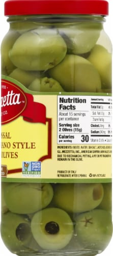 Mezzetta Colossal Castelvetrano Style Pitted Olives Perspective: right