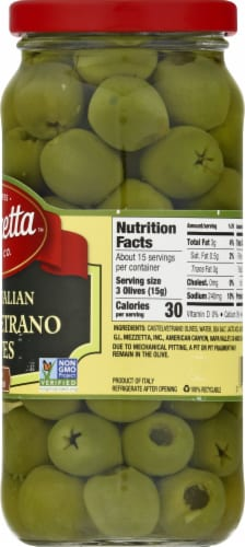 Mezzetta Pitted Castelvetrano Italian Olives Perspective: right