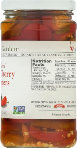 Jeff's Naturals Sliced Hot Cherry Peppers Perspective: right