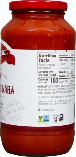 Mezzetta Napa Valley Homemade Spicy Marinara Pasta Sauce Perspective: right