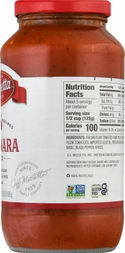 Mezzetta Napa Valley Homemade Marinara Pasta Sauce Perspective: right