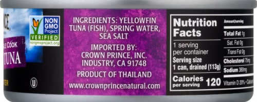 Crown Prince Natural Yellowfin Tuna In Spring Water Perspective: right