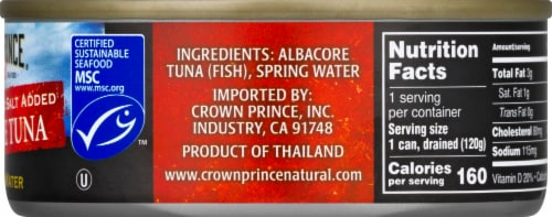 Crown Prince  in Spring Water Natural Albacore Tuna Perspective: right