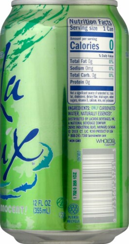LaCroix Lime Sparkling Water Perspective: right