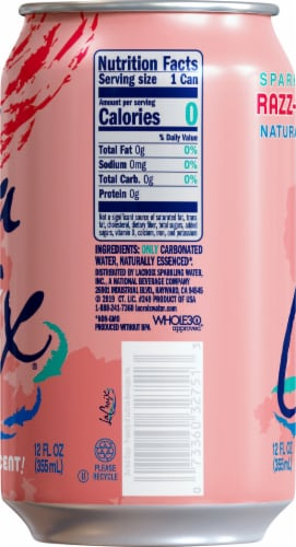 LaCroix Cran-Raspberry Sparkling Water Perspective: right