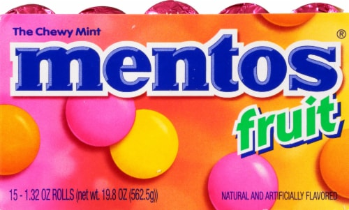 Mentos Mixed Fruit Chewy Mints Perspective: right