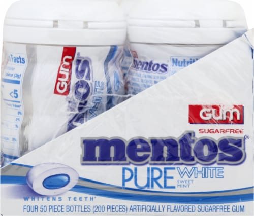 Mentos Pure White Sweet Mint Sugar-Free Gum Perspective: right
