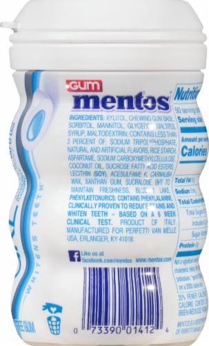 Mentos Pure White Sweet Mint Gum Perspective: right