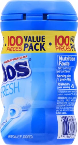 Mentos Pure Fresh Sugar Free Fresh Mint Chewing Gum 100 Count Perspective: right