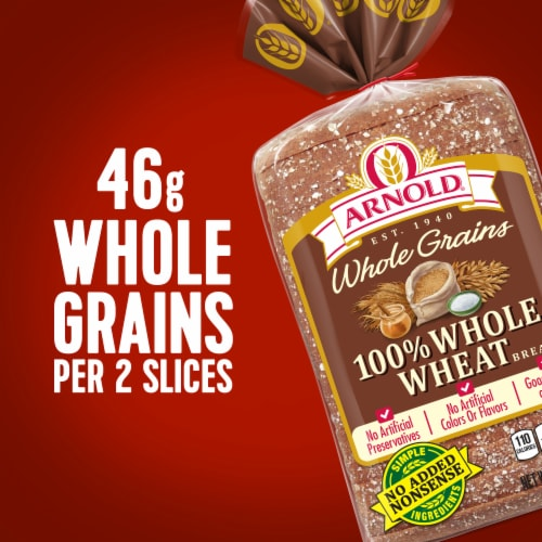 Arnold® Whole Grains 100% Whole Wheat Sliced Bread Perspective: right