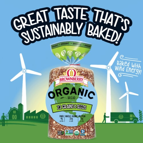 Brownberry Organic 22 Grains and Seeds Bread Perspective: right