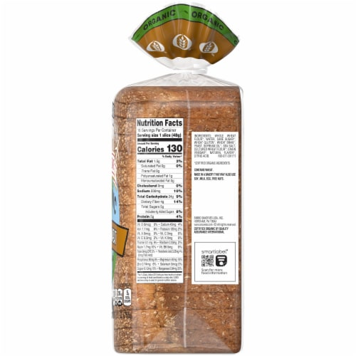 Oroweat Organic Smooth Wheat Bread Perspective: right