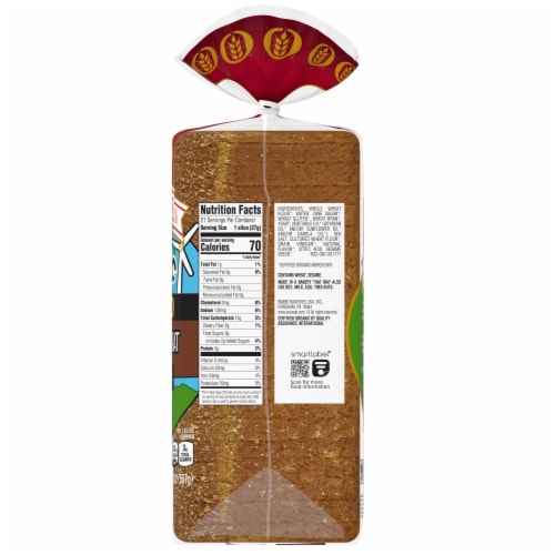 Oroweat Organic Thin Sliced Whole Wheat Bread Perspective: right