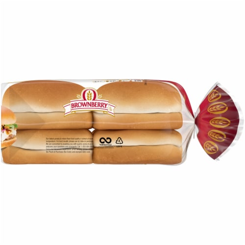 Brownberry Country Potato Sandwich Buns 8 Count Perspective: right