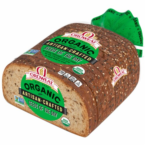 Oroweat Organic Open Faced Seeds The Day Bread Perspective: right