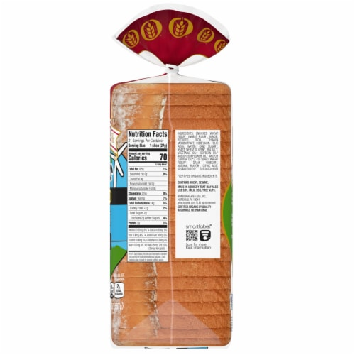 Oroweat Organic Thin Sliced Rustic White Bread Perspective: right