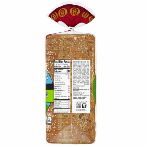 Brownberry Organic 22 Grains & Seeds Thin Sliced Bread Perspective: right