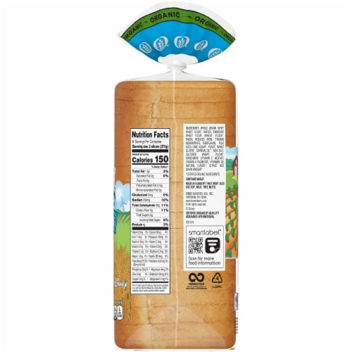Brownberry® Organic White with Whole Wheat Bread Perspective: right