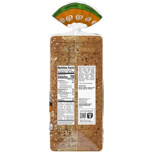 Oroweat Organic Thin-Sliced Sprouted Wheat Bread Perspective: right