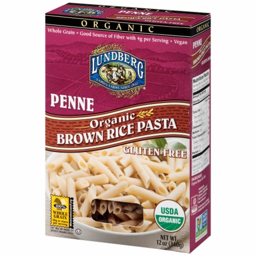 Lundberg Organic Brown Rice Penne Pasta Perspective: right