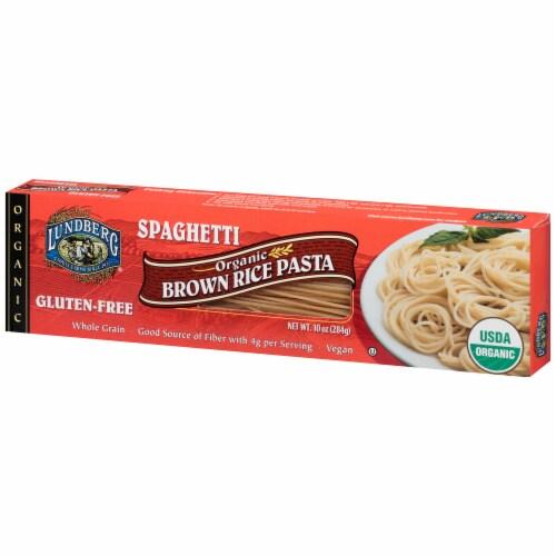 Lundberg Organic Brown Rice Spaghetti Pasta Perspective: right
