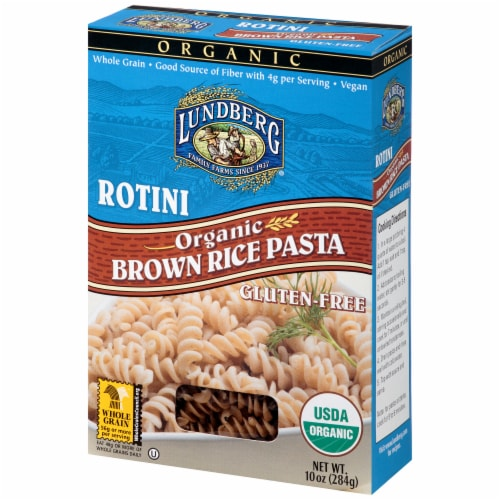Lundberg Organic Rotini Brown Rice Pasta Perspective: right