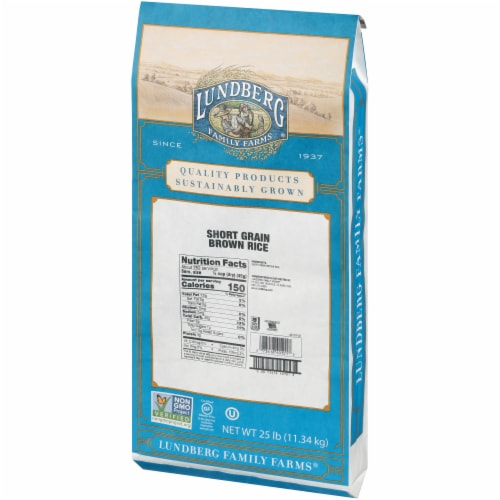 Lundberg Family Farms Brown Short Grain Rice - Single Bulk Item - 25LB Perspective: right