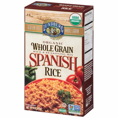 Lundberg Organic Whole Grain Spanish Rice & Seasoning Mix Perspective: right