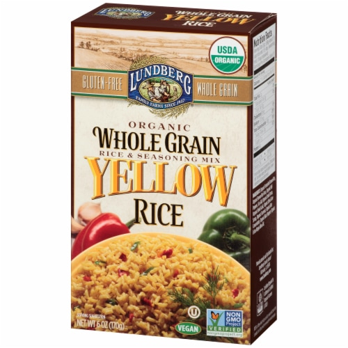 Lundberg Organic Whole Grain Yellow Rice & Seasoning Mix Perspective: right