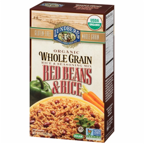 Lundberg Organic Red Beans & Rice Seasoning Mix Perspective: right