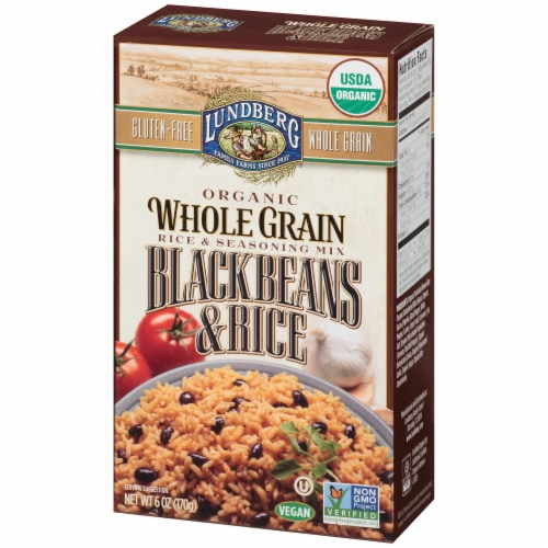 Lundberg Organic Whole Grain Black Beans & Rice Seasoning Mix Perspective: right