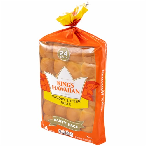 King's Hawaiian Savory Butter Rolls 24 Count Perspective: right