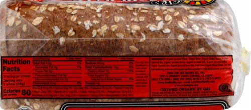 Food for Life 7 Sprouted Grains Bread Perspective: right