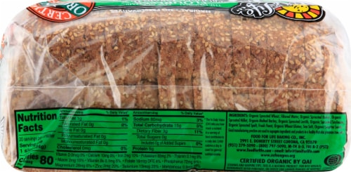 Food for Life Ezekiel 4:9 Sesame Sprouted Grain Bread Perspective: right
