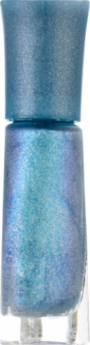 Sally Hansen Insta-Dri Prismatic Shine 222 Cosmic Blu Nail Color Perspective: right